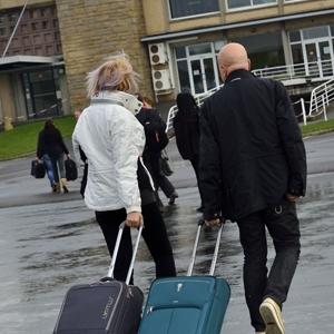 Passagers aéroport de Dinard