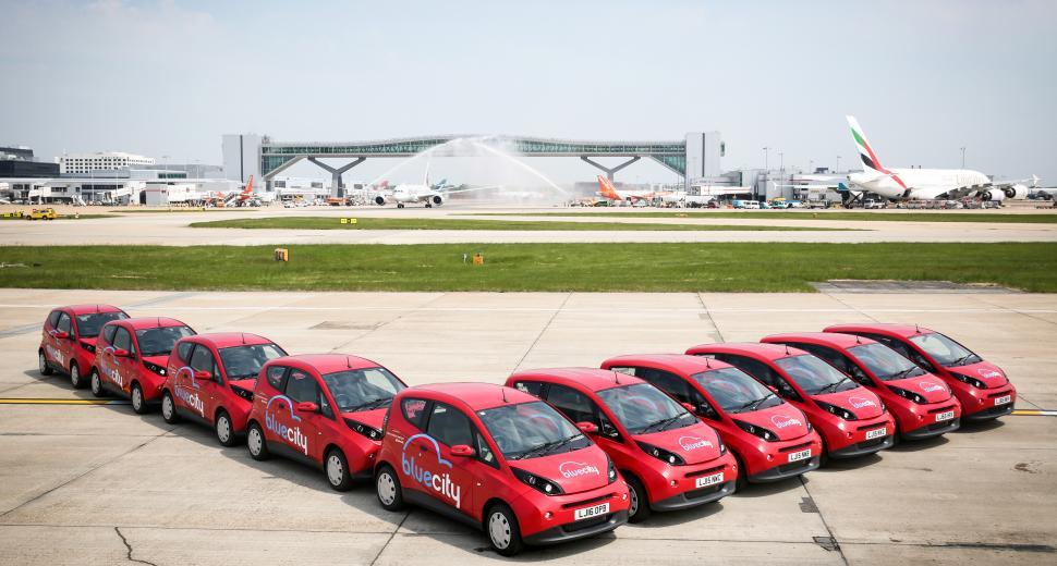 Flotte de véhicules électriques à Londres Gatwick, Royaume Uni