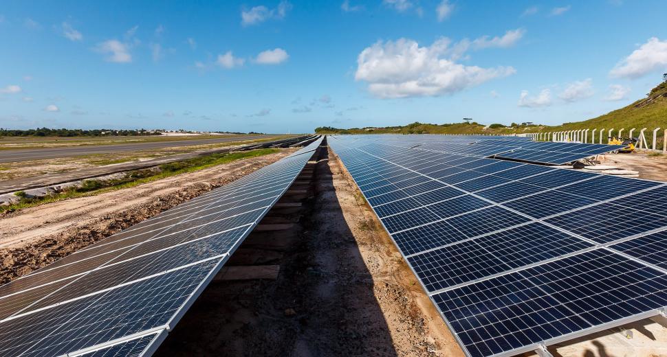 Solar farm at Salvador Bahia Airport, Brazil