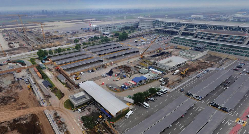 The five-year expansion project for Latin America's 6th-largest airport will increase its capacity from 17 to 32 million passengers a year when it is completed in 2020.