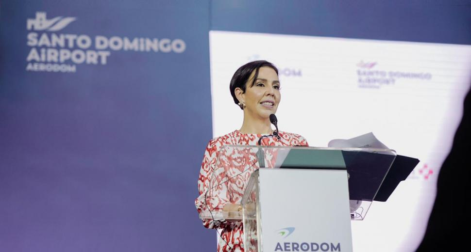 Monika Infante, directrice générale d'Aerodom