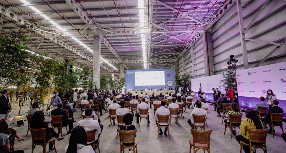 Inauguration du nouveau terminal de fret de l'aéroport international de Las Americas, Saint-Domingue, République dominicaine