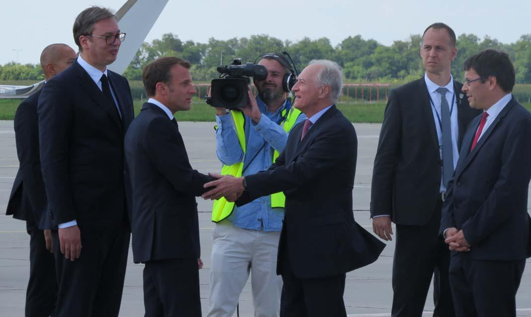 Vinci Airports Presidents Emmanuel Macron And Aleksandar Vucic Launch The Belgrade Airport Modernisation Carried Out By Vinci Airports